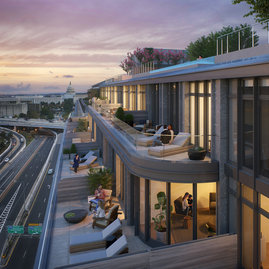 10K offers select penthouses with expansive private outdoor space for optimal indoor-outdoor living, with views of the city that are unrivaled in D.C.