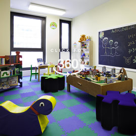 Toys, books and games make our children's playroom the perfect place for kids and their parents to relax, have fun and make friends.