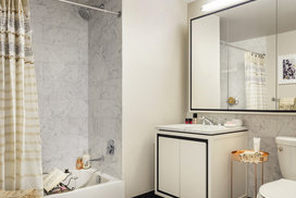 Imported carrara marble bathrooms