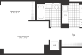 alcove studio floor plan