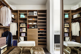 Spacious walk-in closets customized to each apartment.