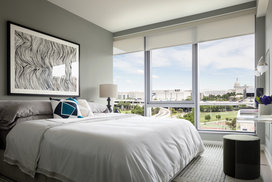 One Hill South offers gracious, light-filled bedrooms.