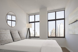 Large, light filled bedrooms with city views.