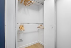 Generous closet spaces.