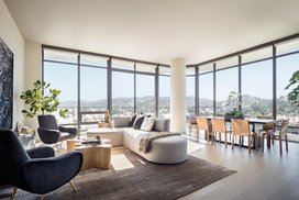 Sun-filled great rooms features expansive floor-to-ceiling windows and private balconies to take in the breathtaking views.