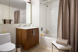Spacious bathrooms with stunning finishes.