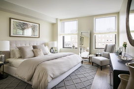 Spacious closets in each bedroom, customized to be the smartest, best-dressed closets in Boston.