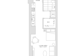 Fifteen Fifty San Francisco Studio Floor Plan