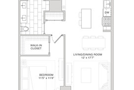 10K 1 Bedroom Floorplan