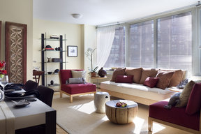 Light filled living in Tribeca Park's gracious layouts.