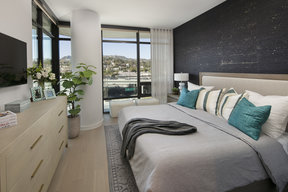 Large, open bedrooms with ample light and storage